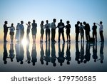 group of business people... | Shutterstock . vector #179750585