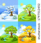 four seasons landscape. natural ...   Shutterstock .eps vector #1797512452