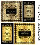 set of vintage frames. vintage... | Shutterstock .eps vector #179752742