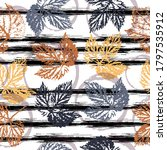 Autumn Leaves. Cute Pattern Of...