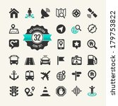 web icon set. location ... | Shutterstock .eps vector #179753822