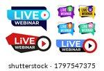 set of live webinar colored... | Shutterstock .eps vector #1797547375