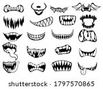 set of scary smile masks.... | Shutterstock .eps vector #1797570865