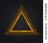 gold glowing triangle.... | Shutterstock .eps vector #1797606388