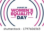 women's equality day in united... | Shutterstock .eps vector #1797606565