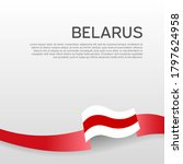 belarus flag background. wavy... | Shutterstock .eps vector #1797624958