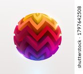 3d colored striped ball. art... | Shutterstock .eps vector #1797642508