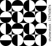 seamless black and white... | Shutterstock .eps vector #179765876
