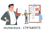 business people completing...   Shutterstock .eps vector #1797680575