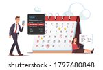 executive managers scheduling... | Shutterstock .eps vector #1797680848