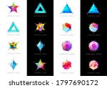 big set of geometric shapes... | Shutterstock .eps vector #1797690172