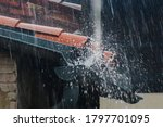 Overflowing Gutters With Water...