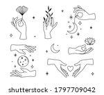 Vector Set Of Female Hand Logos ...