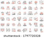 vector set of linear icons... | Shutterstock .eps vector #1797720328