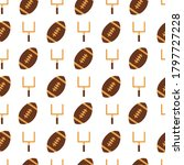 american football hand drawn... | Shutterstock .eps vector #1797727228