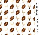 american football hand drawn... | Shutterstock .eps vector #1797727228