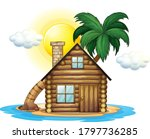 Wooden Cottage On Island...