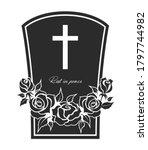 funeral card  vector gravestone ...   Shutterstock .eps vector #1797744982