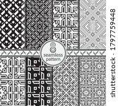 seamless set geometric vector... | Shutterstock .eps vector #1797759448