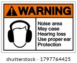 warning noise area may case... | Shutterstock .eps vector #1797764425