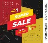super sale banner template... | Shutterstock .eps vector #1797765382