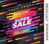 super sale banner template... | Shutterstock .eps vector #1797765388