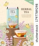 herbal tea box design and tea... | Shutterstock .eps vector #1797789298