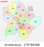 budapest administrative map | Shutterstock .eps vector #179780288