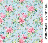 stylish floral seamless rapport ...   Shutterstock . vector #1797844138