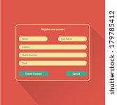 registration web site form | Shutterstock .eps vector #179785412