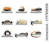 car wash logo set icon vector... | Shutterstock .eps vector #1797858358