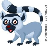cute lemur cartoon   Shutterstock . vector #179786705