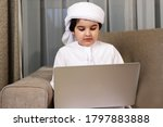 Arab Boy Home School Using...
