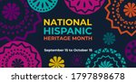 Hispanic Heritage Month. Vecto...