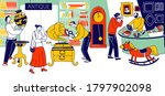 characters visiting antique... | Shutterstock .eps vector #1797902098