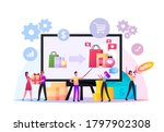 upsell concept. tiny sellers... | Shutterstock .eps vector #1797902308