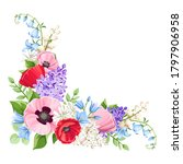 vector floral corner with red ...   Shutterstock .eps vector #1797906958