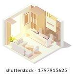 vector isometric office or...   Shutterstock .eps vector #1797915625