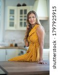 beautiful young brunette woman... | Shutterstock . vector #1797925915