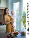 beautiful young brunette woman... | Shutterstock . vector #1797925942