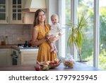 beautiful young brunette woman... | Shutterstock . vector #1797925945