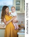 beautiful young brunette woman... | Shutterstock . vector #1797925948