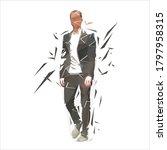 businessman in suit walking... | Shutterstock .eps vector #1797958315