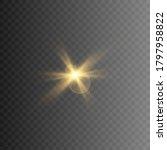 set of golden glowing lights... | Shutterstock .eps vector #1797958822