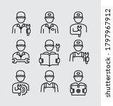 worker engineer technician...   Shutterstock .eps vector #1797967912