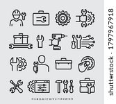 toolbox tools vector line icons   Shutterstock .eps vector #1797967918