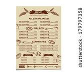 restaurant menu. bakery and... | Shutterstock .eps vector #179797358