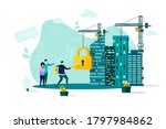 real estate concept in flat...   Shutterstock .eps vector #1797984862