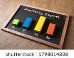 Quarterly Report Concept. Bar...