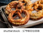 Homemade whole meal pretzels...
